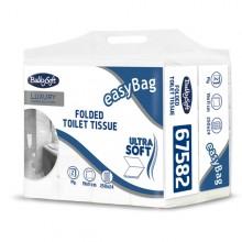 Pacco 250 strappi Carta Igienica interfogliata EasyBag BulkySoft (conf. 24 )