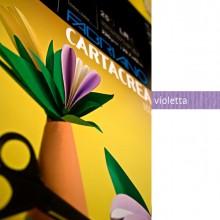 Blister 10Fg Cartoncino 35X50Cm 220Gr Violetta Cartacrea Fabriano