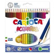 Astuccio 24 Matite Acquerellabili Colori Assortiti Carioca