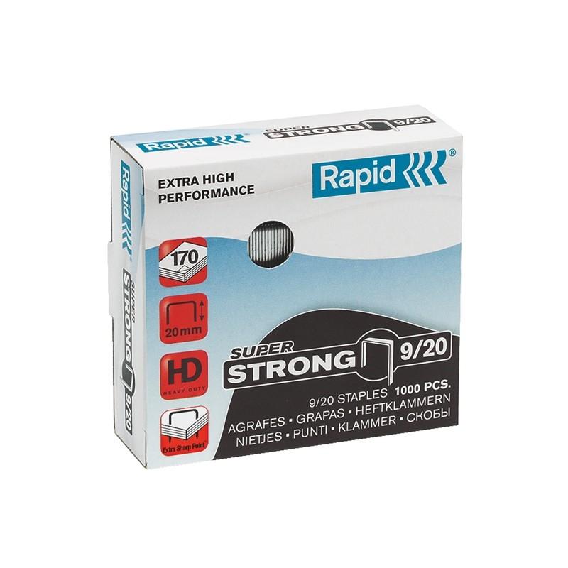 Scatola 1000 Punti Super Strong Rapid 9/20 Per Alti Spessori