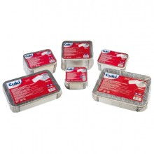 Pack 50 Contenitori Alluminio 4 Porzioni + Coperchio Cuki