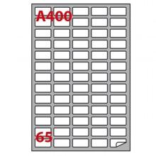 Etichetta Adesiva A/400 Bianca 100Fg A4 38,1X21,2Mm (65Eti/Fg) Markin