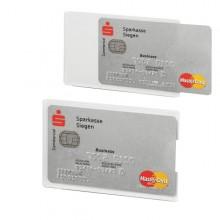 Tasca Porta Carte Di Credito Argento Trasp. 54X87Mm Rfid Secure Durable (conf.3)