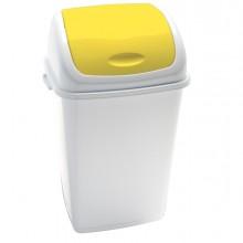 Pattumiera A Basculante 50Lt Rif Basic Bianco/Giallo
