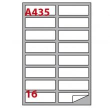 Etichetta Adesiva A/435 Bianca 100Fg A4 99,1X34Mm (16Eti/Fg) Markin
