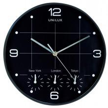 Orologio Da Parete Diam30,5Cm Con 4 Fusi On Time Unilux