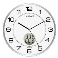 Orologio Da Parete Diam30,5Cm Con Termometro Tempus Unilux