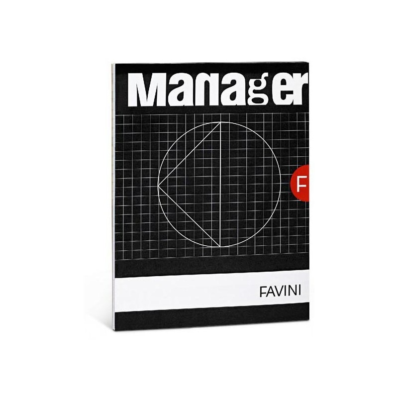 BLOCCO MANAGER 210x297cm 10mm 90FG 80GR FAVINI (conf. 5 )