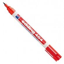 Marcatore permanente extra-fine Edding 404 punta 0,75mm rosso (conf. 10 )