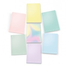 Maxi quaderno A4 80gr 40+2fg 5mm linea Pastel Monocromo Pigna (conf. 10 )