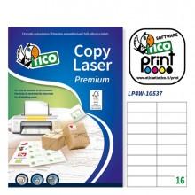 Etichetta Adesiva Lp4W Bianca 100Fg A4 105X37Mm (16Et/Fg) Laser Tico