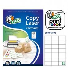 Etichetta Adesiva Lp4W Bianca 100Fg A4 70X42,3Mm (21Et/Fg) Laser Tico