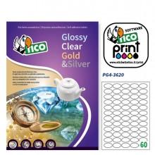 Etichetta Adesiva Pg4 Bianca Lucida 100Fg A4 36X22Mm (55Et/Fg) Tico