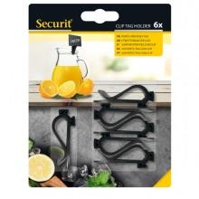 Set 6 Supporti Clip Per Tag Securit