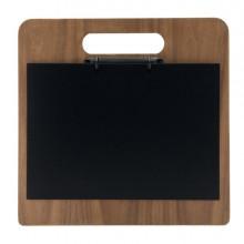 Porta Chopping Board In Legno Con Anelli 32X24Cm Securit