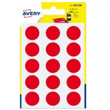 Blister 90 Etichetta Adesiva Tonda Psa Rosso Diam19Mm Avery