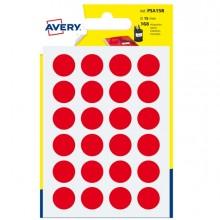 Blister 168 Etichetta Adesiva Tonda Psa Rosso Diam15Mm Avery