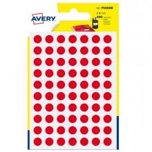 Blister 490 Etichetta Adesiva Tonda Psa Rosso Diam8Mm Avery