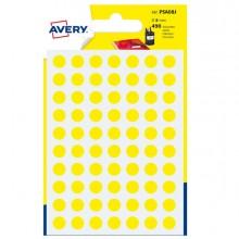 Blister 490 Etichetta Adesiva Tonda Psa Giallo Diam8Mm Avery