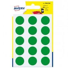 Blister 90 Etichetta Adesiva Tonda Psa Verde Diam19Mm Avery