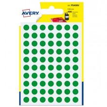 Blister 490 Etichetta Adesiva Tonda Psa Verde Diam8Mm Avery