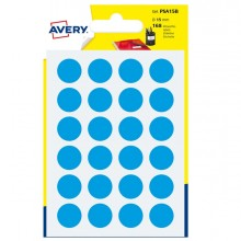 Blister 168 Etichetta Adesiva Tonda Psa Blu Diam15Mm Avery