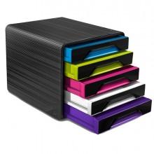 Cassettiera 5 Cassetti Standard Nero/Multicolori 7-111 Smoove Cep
