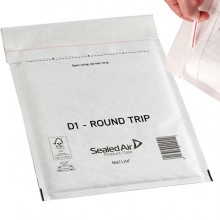 Conf.100 Buste Imbottite Bianche D 18X26Cm Andata-Ritorno Mail Lite Round Trip