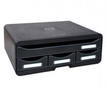 Cassettiera Toolbox 4 Cassetti Nero Exacompta