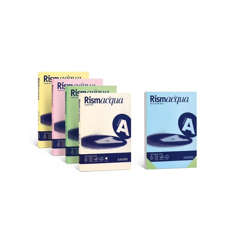 Carta Rismacqua 140Gr A4 200Fg Rosa 10 Favini