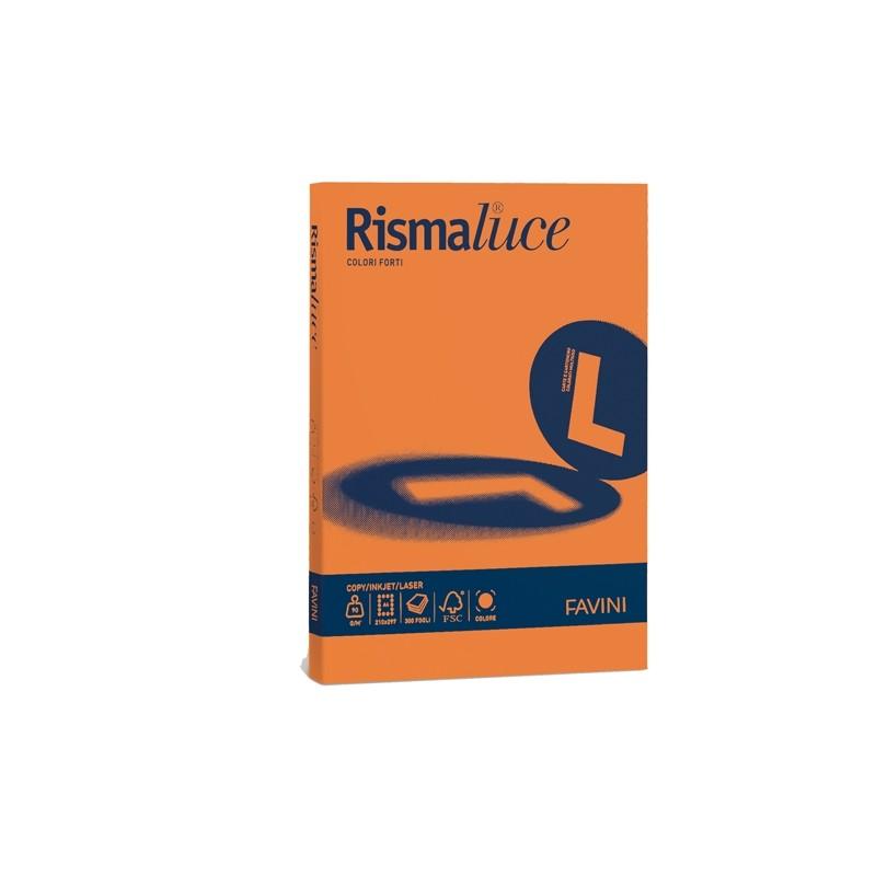 Carta Rismaluce 200Gr A4 125Fg Arancio 56 Favini