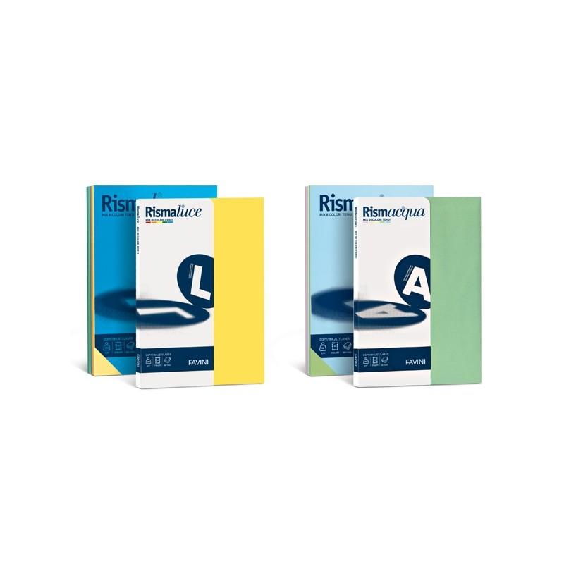 Carta Rismacqua 200Gr A4 125Fg Mix 5 Colori Favini