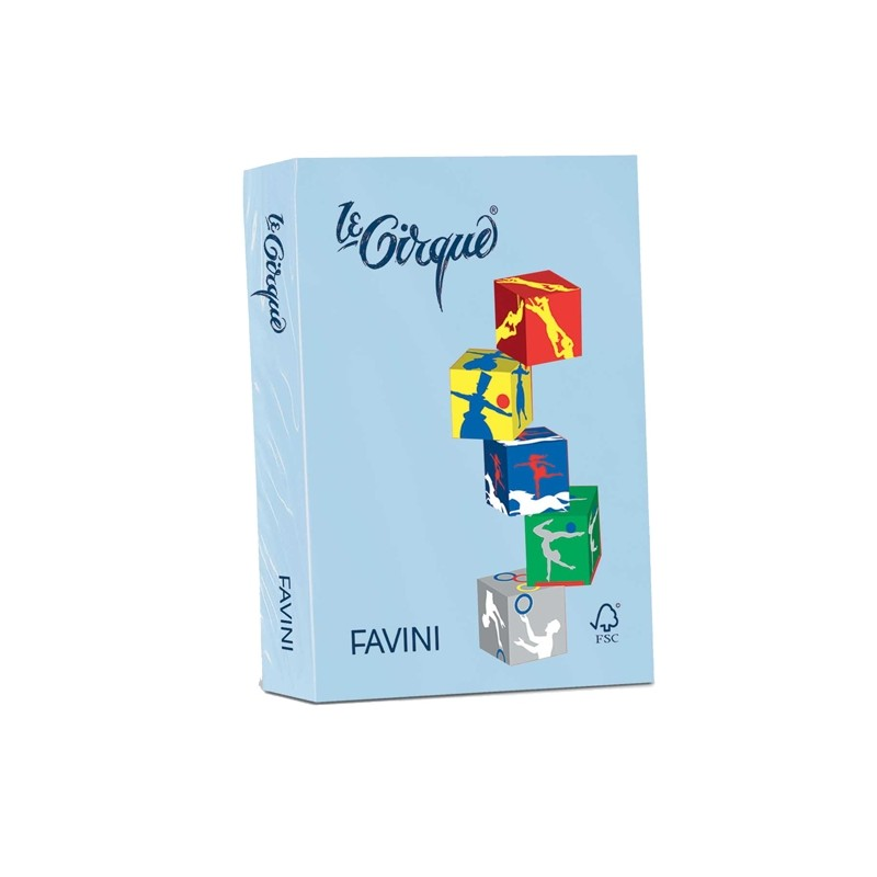 Carta Lecirque A4 160Gr 250Fg Azzurro Pastello 106 Favini