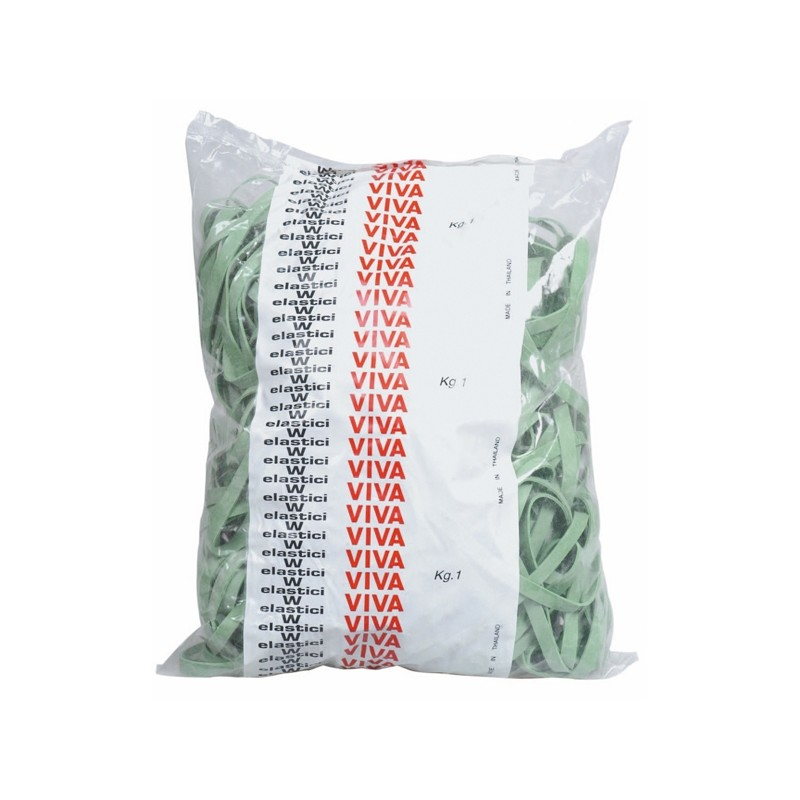 Elastico Fettuccia Verde Diam100 T8 Sacco Da 1Kg