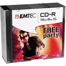 Cd-R Emtec 80Min/700Mb 52X Slim Case (Kit 10Pz)