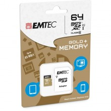 Micro Sdxc Emtec 64Gb Class 10 Gold + Con Adattatore
