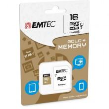 Micro Sdhc Emtec 16Gb Class 10 Gold Plus Con Adattatore
