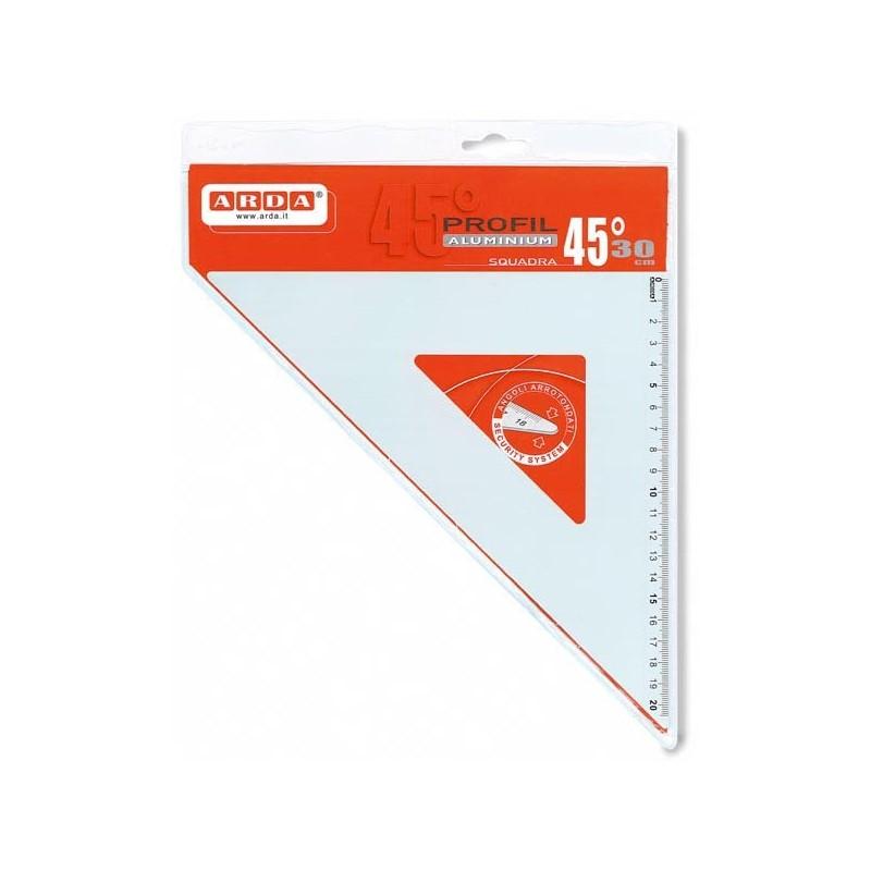 Squadra Profil Alluminio 45° 30Cm Arda