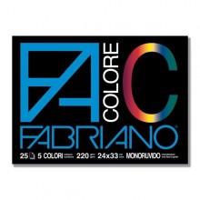 Blocco Facolore (240X330Mm) 25Fg 220Gr 5 Colori Fabriano (conf.5)