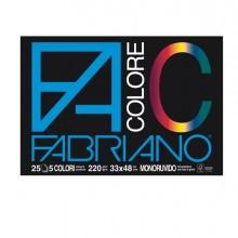Blocco Facolore (330X480Mm) 25Fg 220Gr 5 Colori Fabriano (conf.5)