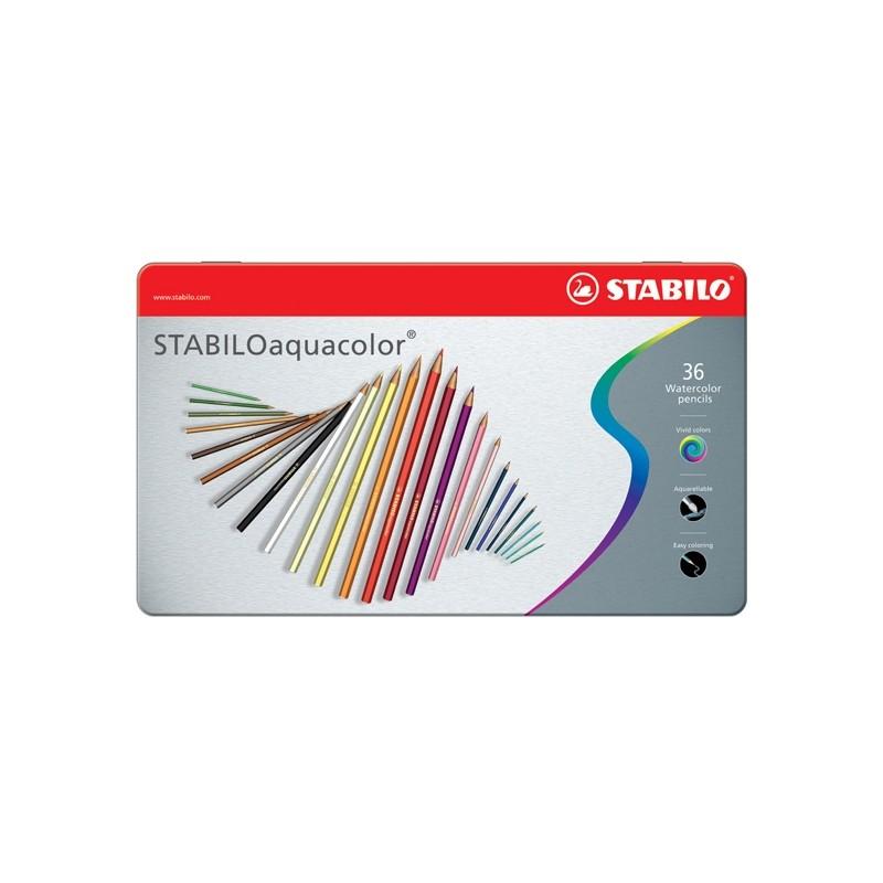 Astuccio Metallo 36 Pastelli Stabilo Aquacolor 1636