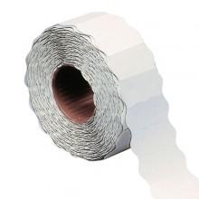 Rotolo 1000 etichette 26x16mm bianche permanenti a onda Markin (conf. 16 )