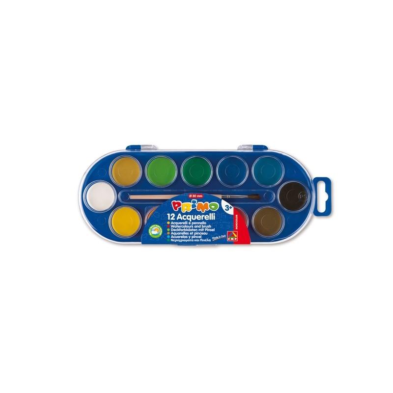 Pastiglie Acquerello In 12 Colori ø 30Mm Primo