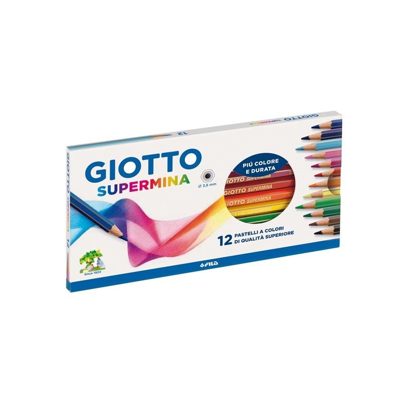 Astuccio 12 Pastelli Supermina Giotto