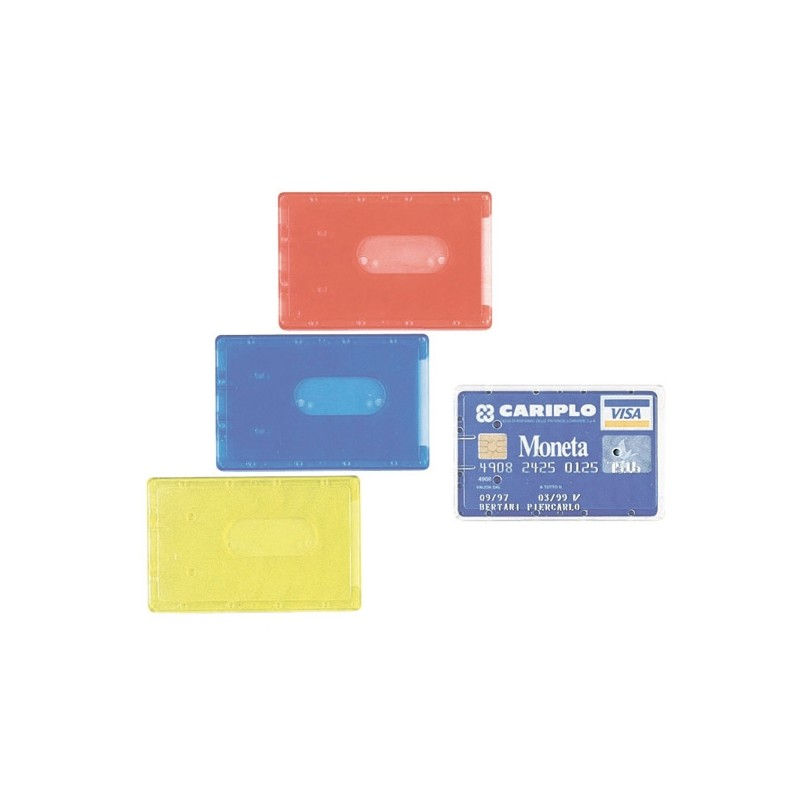 BUSTA PORTA CARDS 8,5X5,4 02/7828 PVC RIGIDO COL.ASSORTITI FAVORIT (conf. 100 )