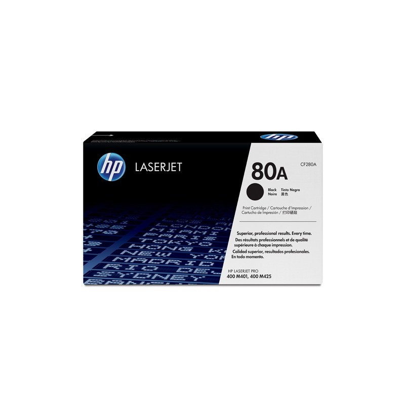 Hp 80A Black Laserjet Toner Cartridge