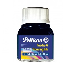 INCHIOSTRO DI CHINA 523 BLU COBALTO 8 10ML PELIKAN (conf. 10 )