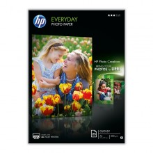 Risma 25 Fg Carta Fotogr. Hp Everyday Photo Paper Semi Lucida A4 200Gr
