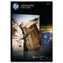 Risma 20 Fg Carta Fotografica Hp Advanced Lucida 250 G/M² A3/297X420Mm