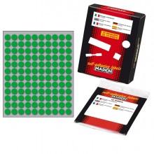 Etichetta Adesiva Verde Tonda Ø10Mm (10Fogli X 120Etichette) Markin